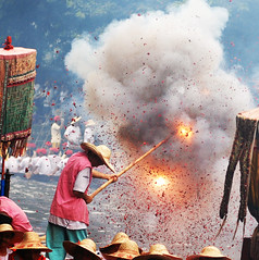Dragon Boat Festival in Firecrackers (danise) Tags: guangzhou traditional chinese festivals dragonboatfestival supershot duanwujie colorphotoaward superbmasterpiece jalalspages  lpfestasiapacific