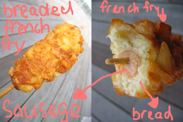 breaded french fry sausage