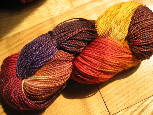 Fleece Artist Sock yarn in Origin