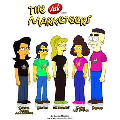 The Ask.com Marketeers Family (Montini) Tags: uk holiday celebrity sergio sarah matt movie book design marketing us yahoo 3d google cool comic drawing web bart simpsons stefan animation celebrities messenger msn premiere draw 2d sophia bartlett ask kirchner groening askjeeves jeeves askcom sheetal hommer montini marketeers askcouk antoniades sergiomontini askjeevescom askjeevescouk randev