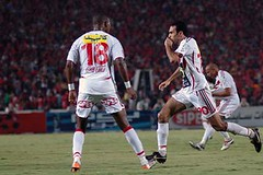 the Egyptian Cup finals in Cairo July 2, 2007. Al-Ahly won 4-3 in overtime (Egypti