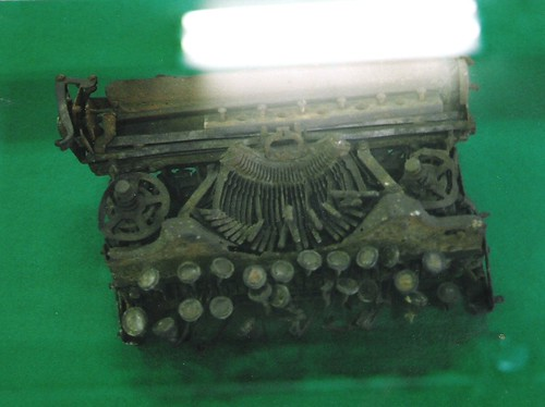 typewriter melted by fire 1923