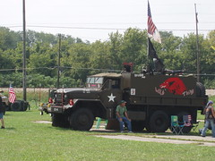 Army Truck (On_The_Bandwagon) Tags: army americanflag inpatriotism newcarlislehistoricaldays