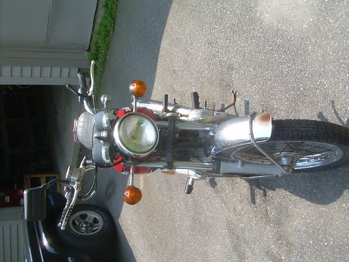 honda 360 cafe racer. 1975 Honda CB360 Headlight and