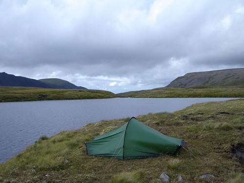 Pitched at Loch nan Cnapan