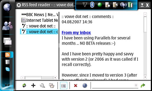 RSS reader on N800