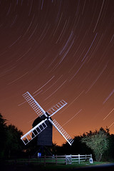 Starry Night over Great Gransden (. Andrew Dunn .) Tags: uk longexposure nightphotography england sky brown mill windmill night stars landscape bravo flash 4 illumination paintingwithlight northeast cambridgeshire constellation eastanglia startrails postmill perseids cy2 challengeyouwinner mywinners anawesomeshot superaplus aplusphoto greatgransden cyspecialchallenge2nd