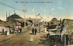 Coronado Tent City vintage postcard