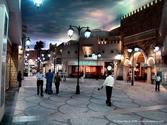 A street in Tunisia. - with no UFOs (elvis_payne) Tags: sky mall shopping lights dubai tunisia uae ufo ibn battuta dsch9