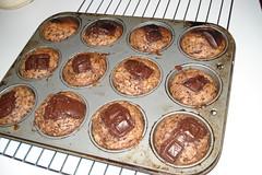triple choc muffins,