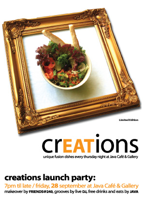 Fw: CREATIONS Launch Party at Java Café & Gallery
