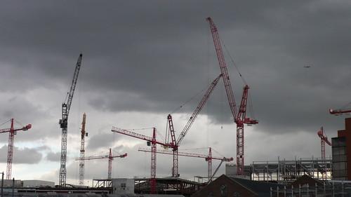 white city cranes