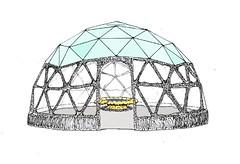 Hospice Garden Geo Dome Sketch