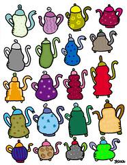 20 teapots doodle
