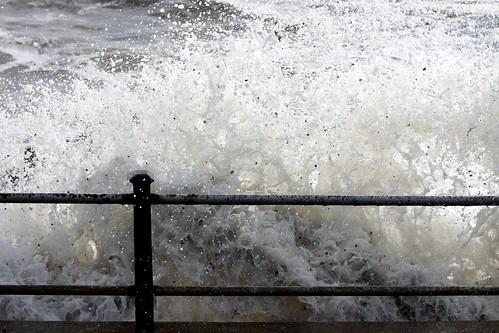 Hight tide at St Margaret's Bay 23rd October 2010