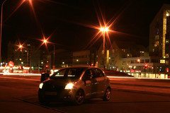 Saturday night (Redneck Photos) Tags: cruise car night lights iceland downtown traffic echo saturday reykjavik toyota streaks sland yaris hrolfurinn