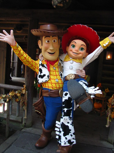 Meeting Woody and Jessie at Big Thunder Ranch Halloween Roundup
