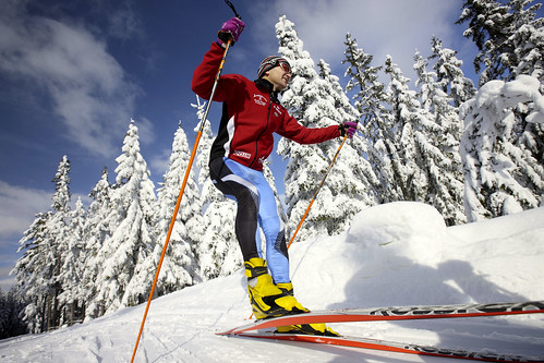 The movement of cross-country skiing
