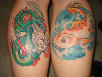 Dragon and Koi Tattoo picture