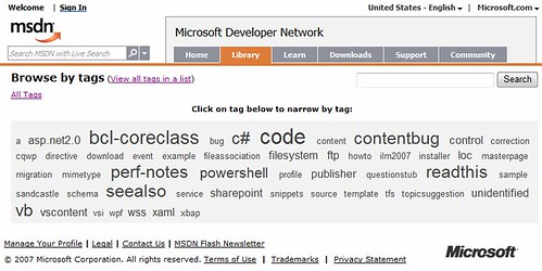 MSDN Library - now with Folksonomies - Alex Barnett blog