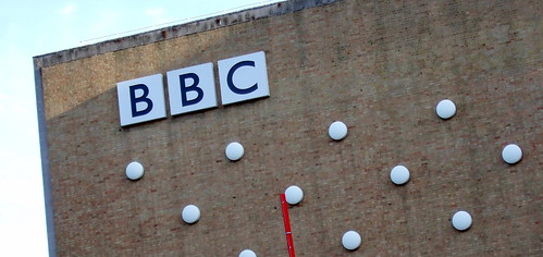The BBC - sign on Television Centre