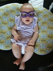 Daisy in goggles