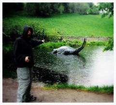 nessie baby! (GJPRODUCT3) Tags: she found one was us little think more but scared yesteryear moster ukscotland i