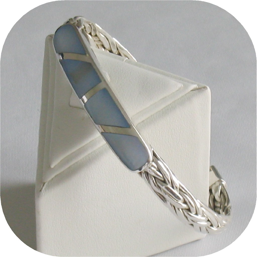 Mother-of-Pearl Soft Braided Cuff