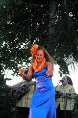 Dancer at the Grand Hyatt Luau (Loves2Stitch2) Tags: orange hawaii hula luau kauai grandhyatt grandhyattkauai grandhyattluau kauailuau