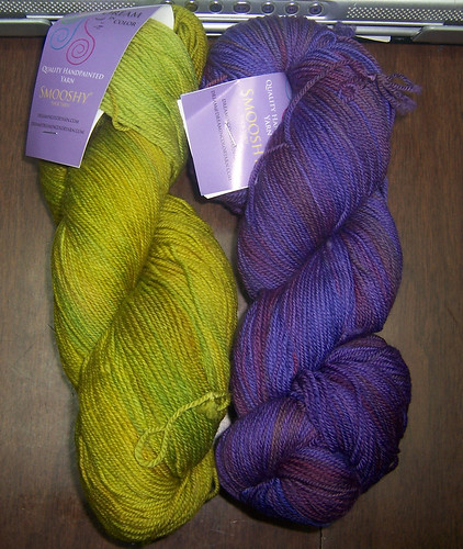 My first skeins of Smooshy Sock