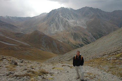 Over the Pass at Big Almaty Lake