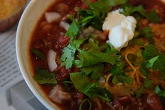 turkey chilli- while watching Patriots & Red Sox games