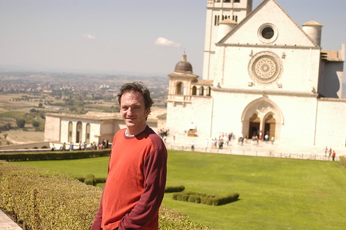 the Chef in front of the Basilica