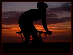 The Dutchman (Kirsten M Lentoft) Tags: sunset man dutch silhouette denmark bravo mountainbiking albertslund instantfave outstandingshots anawesomeshot momse2600 diamondclassphotographer herstedhje thegoldenmermaid kirstenmlentoft