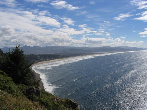 Oregon's long stretches of sandy coastline
