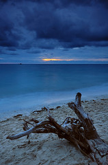 A Hint of Sunset (allanbarredo) Tags: blue sunset sea beach philippines driftwood cpl glan celebessea cokingnd sarangani gumasa
