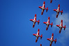 Nine Canadian Snowbirds flying overhead (Forest Wang) Tags: sky ontario canada june expo aviation kitchener 200iso airshow waterloo planes snowbirds 2010 f40 breslau kitchenerwaterloo 210mm canadiansnowbirds mywinners 407pm june2010 12500secatf40 sonydslra230 fathersday2010