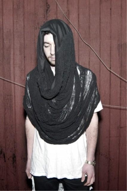 CMRTYZ shredded black tube scarf 2