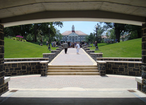 View of Wilson Hall from the Quunnel