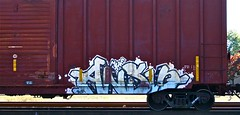 IMG_5770 (mightyquinninwky) Tags: railroad graffiti tag graf tracks railway tags tagged railcar rails boxcar graff graphiti freight trainart fr8 railart boxcarart freightart taggedboxcar paintedboxcar paintedrailcar taggedrailcar