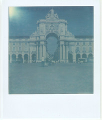 Polaroid 085 (rrgoncalves92) Tags: camera old blue red color project polaroid 1 design do vespa museu lisboa lisbon moda first tip e shade da land praça flush alpha mode 70 impossible comercio sx chiado px