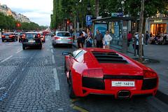 Lamborghini Murcielago (navnetsio) Tags: auto red paris france car champs spot des exotic ag lp avenue rood lamborghini elysees ai parijs exotics murcielago lambo 640 champsélysées wagen gespot agai lp640 autogespot autoinformatief