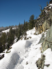 Ledge of a trail