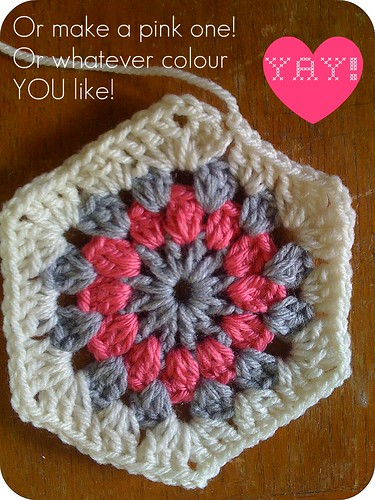 crocheted hexagon