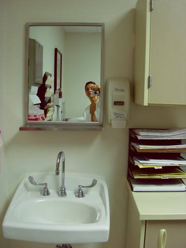 self portrait in exam room