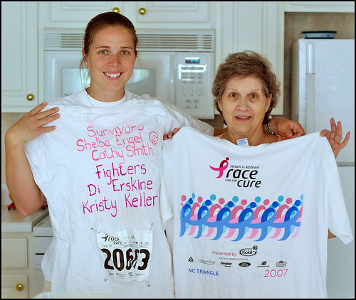 "Taryn & Mom with the ""Race for the Cure"" T-Shirt"