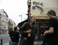 Encounter Rue St Antoine and Rue St Paul (Shotbox) Tags: paris canons50 lemarais ruestpaul ruestantoine