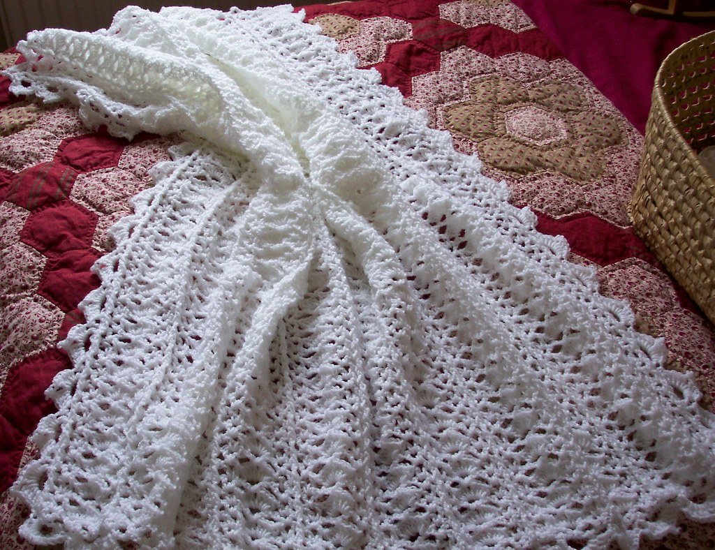 White crochet blanket (Sold)