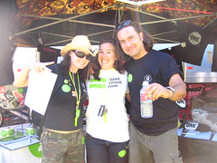 Oxfam volunteers Megan, Danna and Jerome.