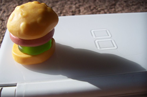 food court hamburger candy on nintendo ds
